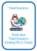 Columbus Direct travel insurance - donating 5% to charity