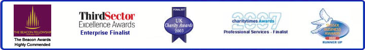 The Beacon Awards Highly Commended - Third Sector Exellence Awards - UK Charity Awards - charitytimes awards, East Sussex Business Awards