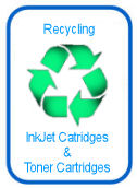 Recycling inkjet cartridges and toner cartridges
