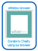 WhiteBox browser donating to charity